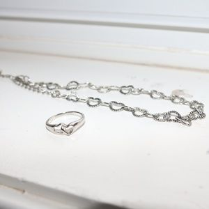 Lia Sophia Heart Anklet and Ring